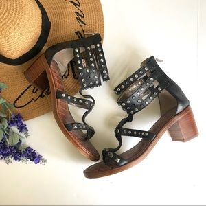 Sam Edelman leather studded chunky heels 8.5